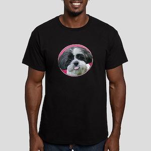 Funny Shih Tzu Men's Fitted T-Shirt (dark)
