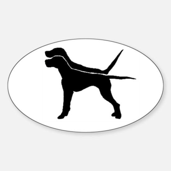 Pointer Oval sticker