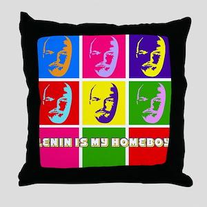 Lenin is my Homeboy Throw Pillow