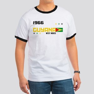 Red Guyana Flag 1966 T-Shirt