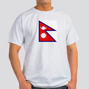 Nepalese Flag Ash Grey T-Shirt
