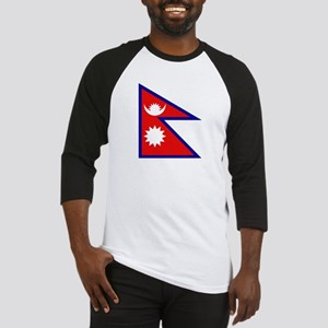 Nepalese Flag Baseball Jersey