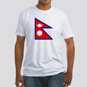 Nepalese Flag Fitted T-Shirt