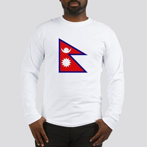 Nepalese Flag Long Sleeve T-Shirt