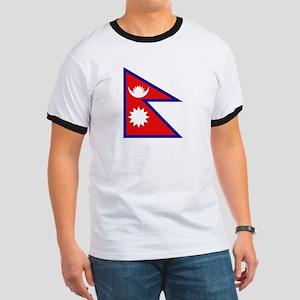 Nepalese Flag Ringer T