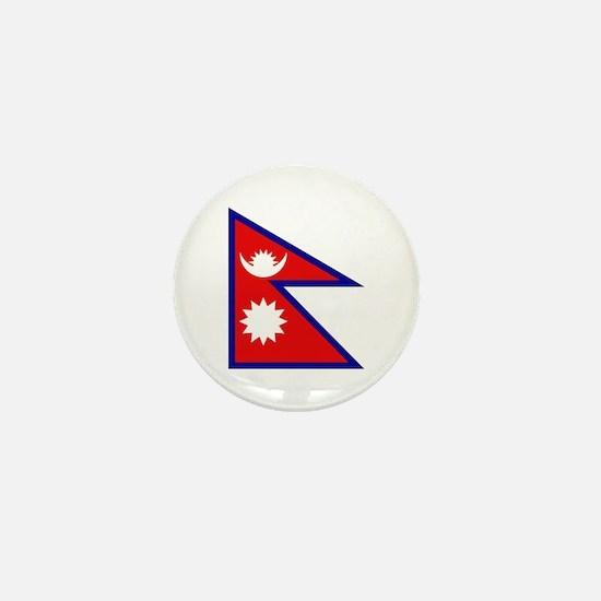 Nepalese Flag Mini Button