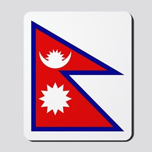 Nepalese Flag Mousepad