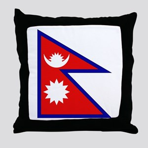 Nepalese Flag Throw Pillow