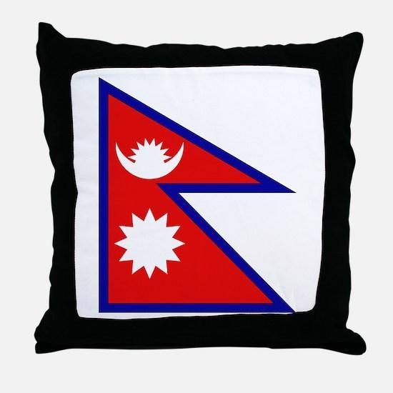 Nepalese Flag Throw Pillow