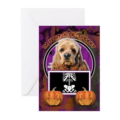 Just a Lil Spooky Cocker Greeting Cards (Pk of 10)