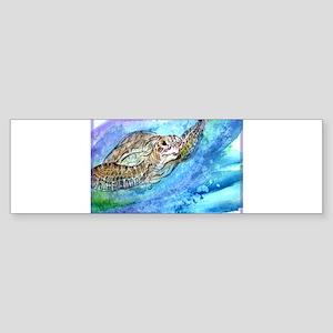 Wildlife, Sea Turtle, art, Sticker (Bumper)