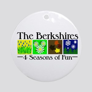 The Berkshires 4 seasons of fun Ornament (Round)