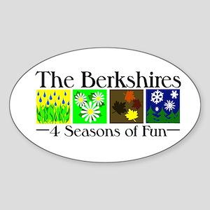 The Berkshires 4 seasons of fun Sticker (Oval)