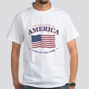 American flag patriotic White T-Shirt