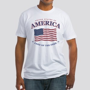 American flag patriotic Fitted T-Shirt