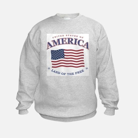 Kids American flag Sweatshirt - July 4th