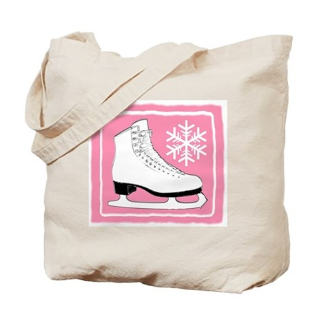 Pink Ice Skate Tote Bag
