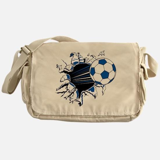 Soccer Ball Burst Messenger Bag