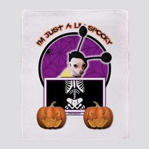 Just a Lil Spooky Cheagle Throw Blanket