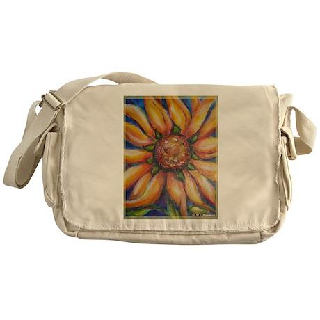 Sunflower, colorful, art, Messenger Bag