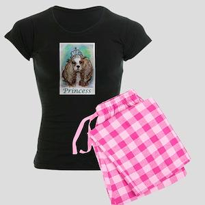 Princess, Pretty, Puppy, Dog, Women's Dark Pajamas