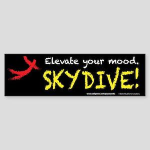 Elevate Your Mood Skydiver Sticker (Bumper)