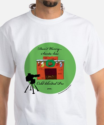 Santa's Cold-Blooded White T-Shirt