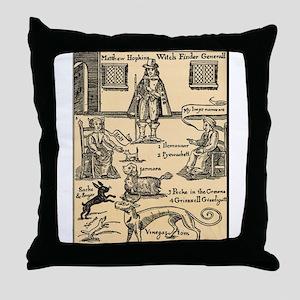 Matthew Hopkins Throw Pillow