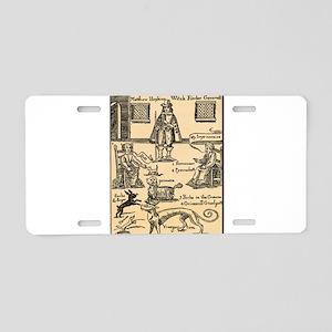 Matthew Hopkins Aluminum License Plate