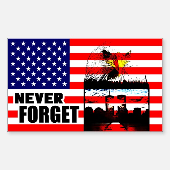 """""""Never Forget"""" Sticker (Rectangle)"""