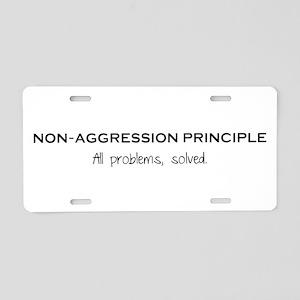 Non-Aggression Principle Aluminum License Plate