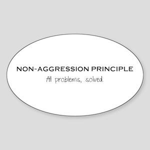 Non-Aggression Principle Sticker (Oval)