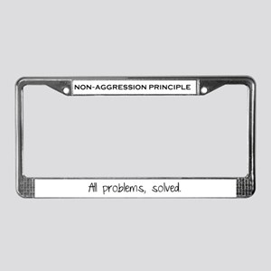 Non-Aggression Principle License Plate Frame