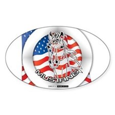 A Mustang Horse Sticker (Oval)