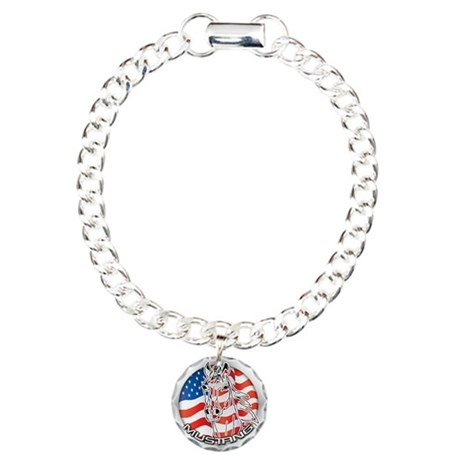 A Mustang Horse Charm Bracelet, One Charm