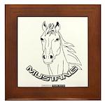 Mustang Plain Horse Framed Tile