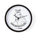 Mustang Plain Horse Wall Clock