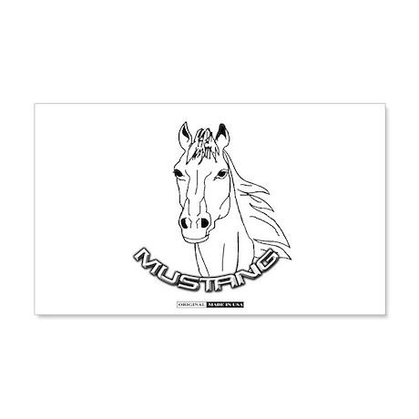 Mustang Plain Horse 22x14 Wall Peel