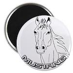Mustang Plain Horse Magnet