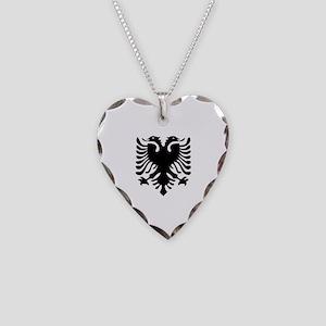 Albanian Eagle Necklace Heart Charm
