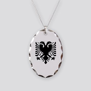 Albanian Eagle Necklace Oval Charm