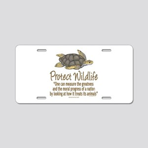 Protect Sea Turtles Aluminum License Plate
