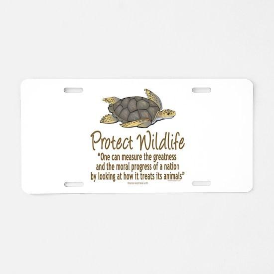 Protect Sea Turtles Aluminum License Plate