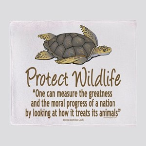 Protect Sea Turtles Throw Blanket