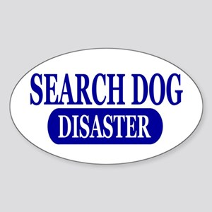 Disaster Search Dog Sticker (Oval)
