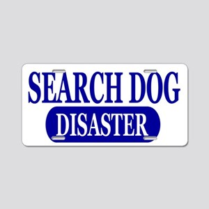 Disaster Search Dog Aluminum License Plate