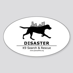 Running Dog Sticker (Oval)