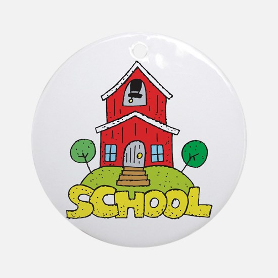 School House Ornament (Round)