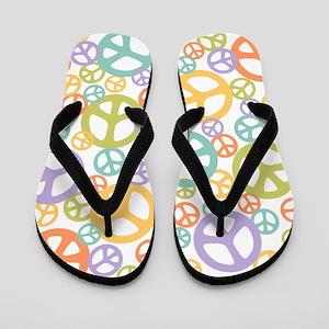 Multi-Peace White Flip Flops