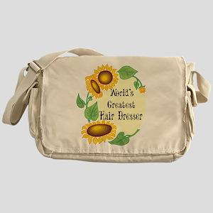 World's Greatest Hair Dresser Messenger Bag
